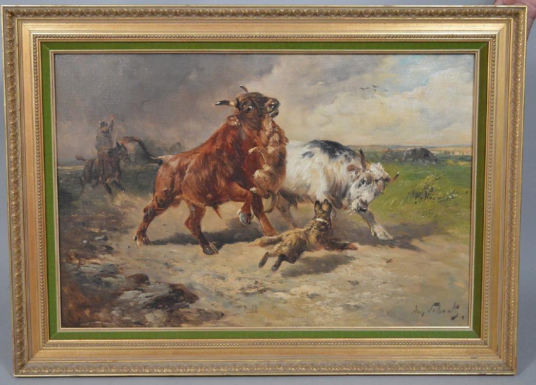 Henry Schouten (Belgian, 1864-1927) oil on canvas,