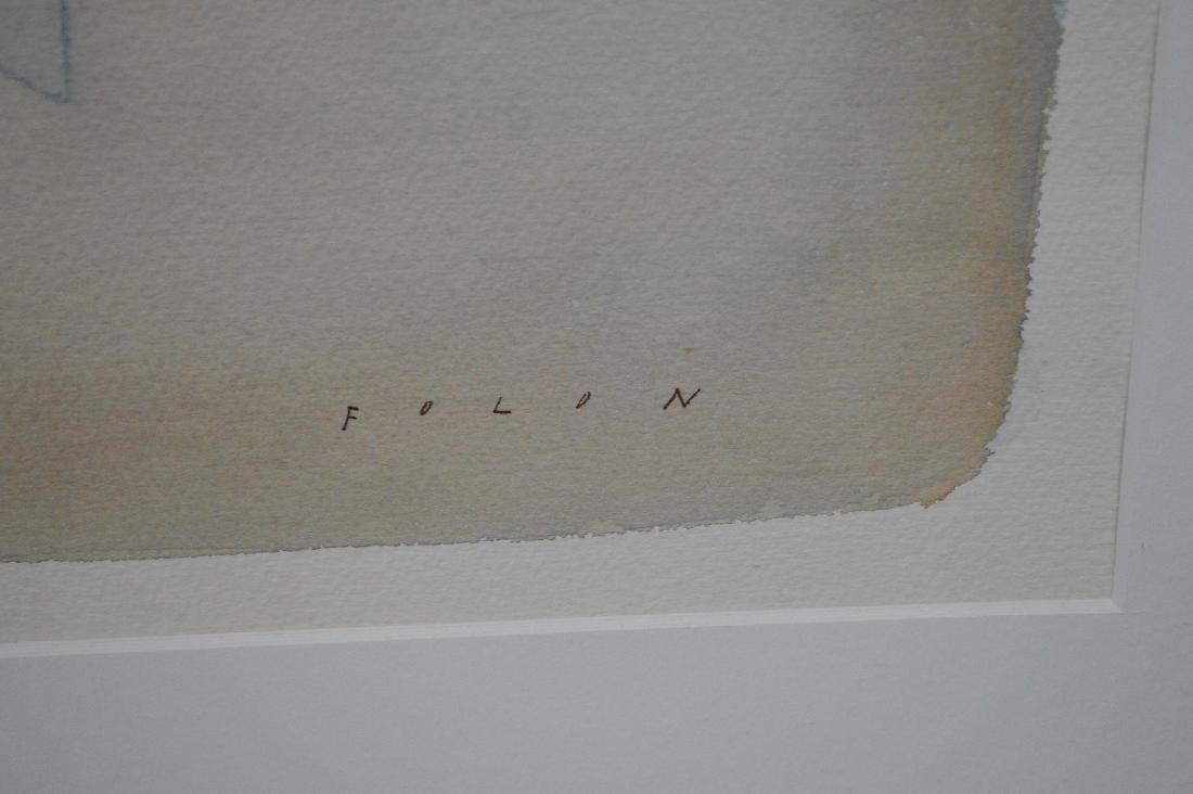 Jean-Michel Folon (Belgian, 1934-2005) Original - 4