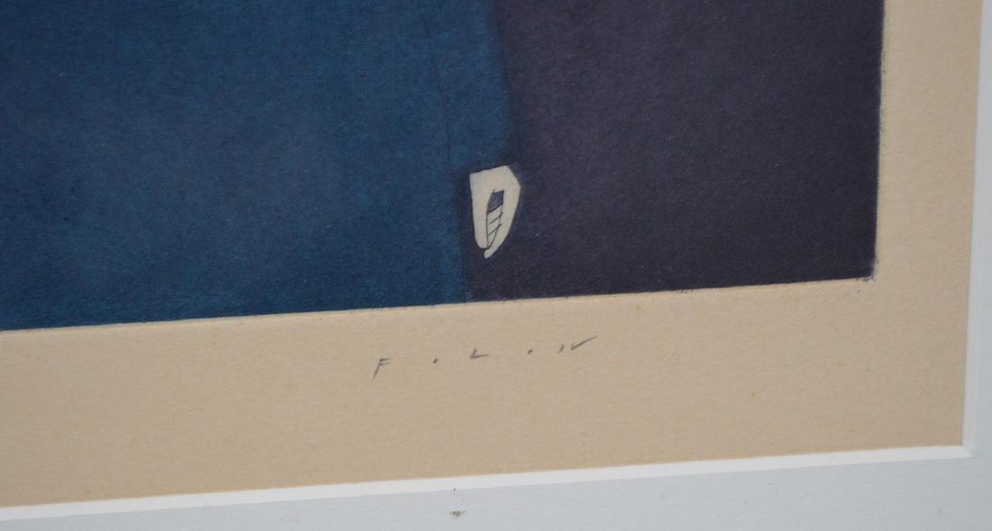 (2) Two pieces:  Jean-Michel Folon (Belgian, 1934-2005) - 4
