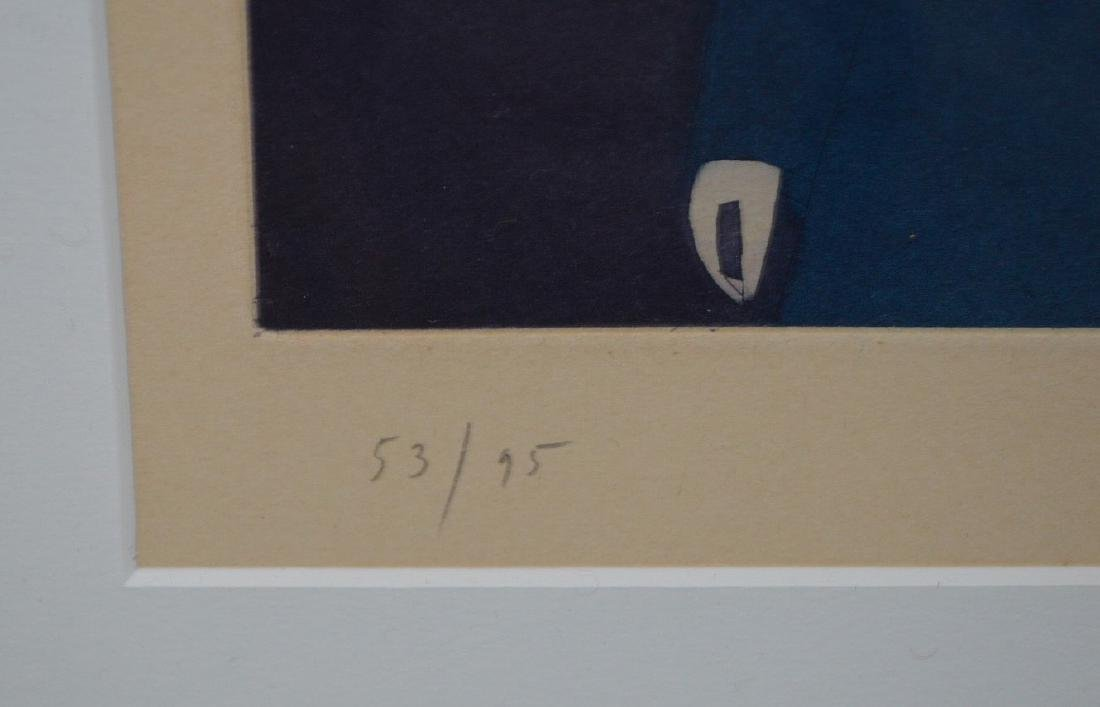 (2) Two pieces:  Jean-Michel Folon (Belgian, 1934-2005) - 5