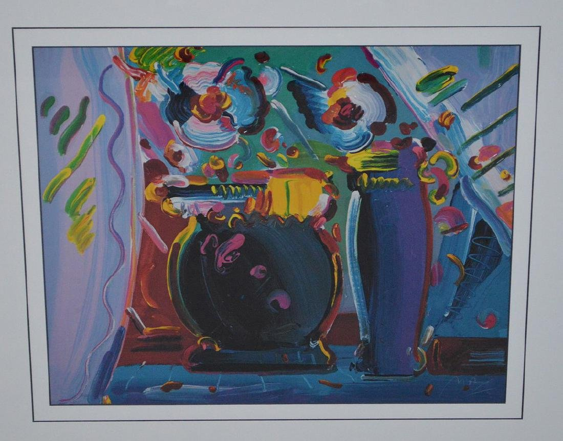 Peter Max - Lithograph Print, still life flowers and - 2
