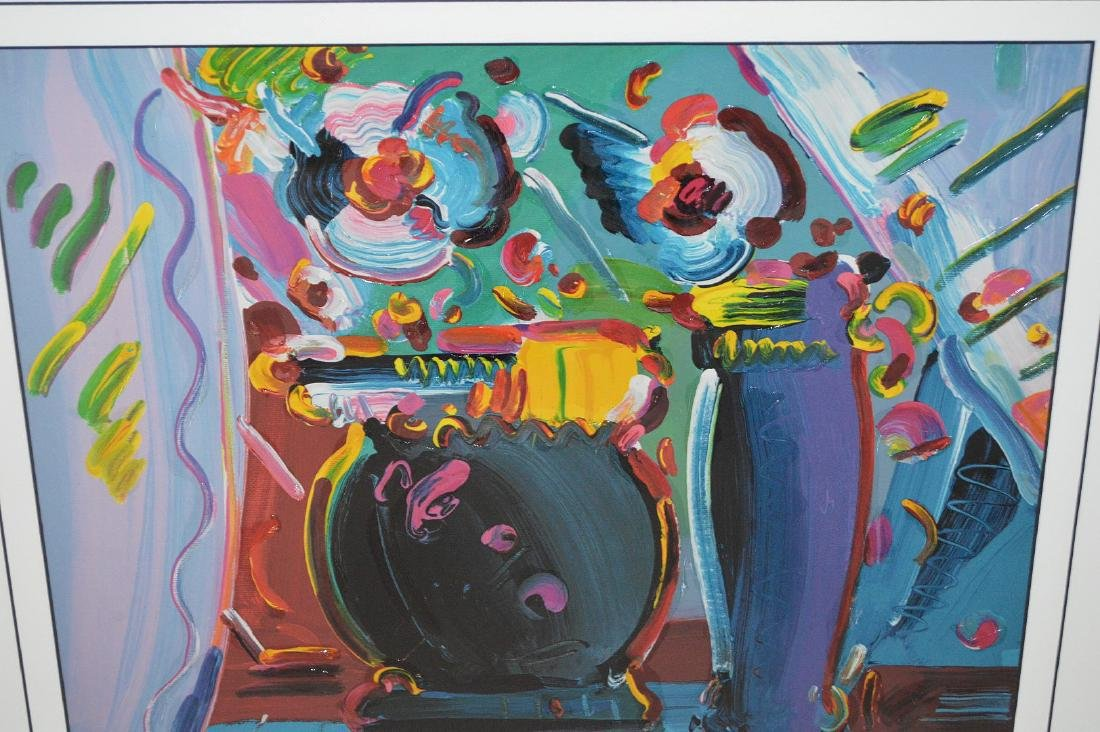 Peter Max - Lithograph Print, still life flowers and - 3