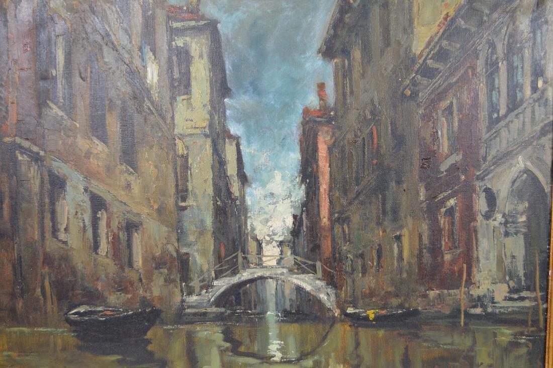 Giuseppe Abbati (Italian 1836-1868) Canal in Venice, - 2