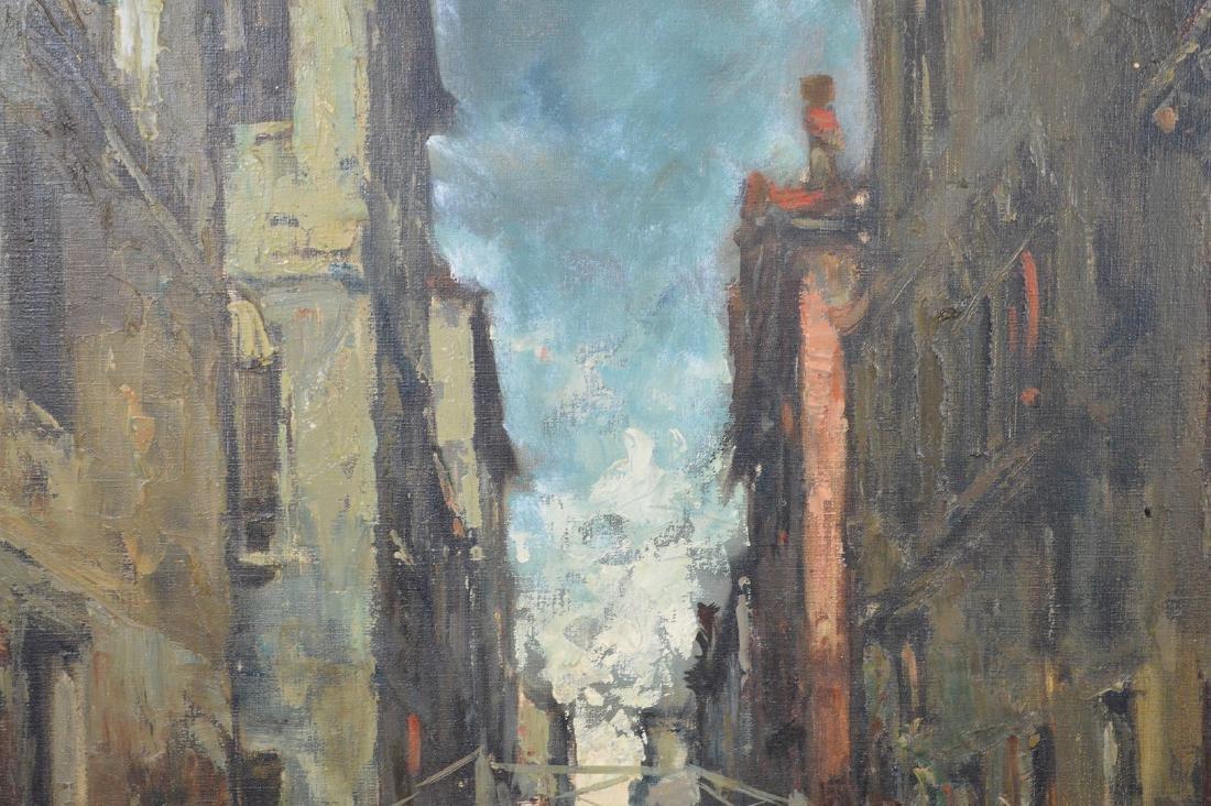 Giuseppe Abbati (Italian 1836-1868) Canal in Venice, - 3