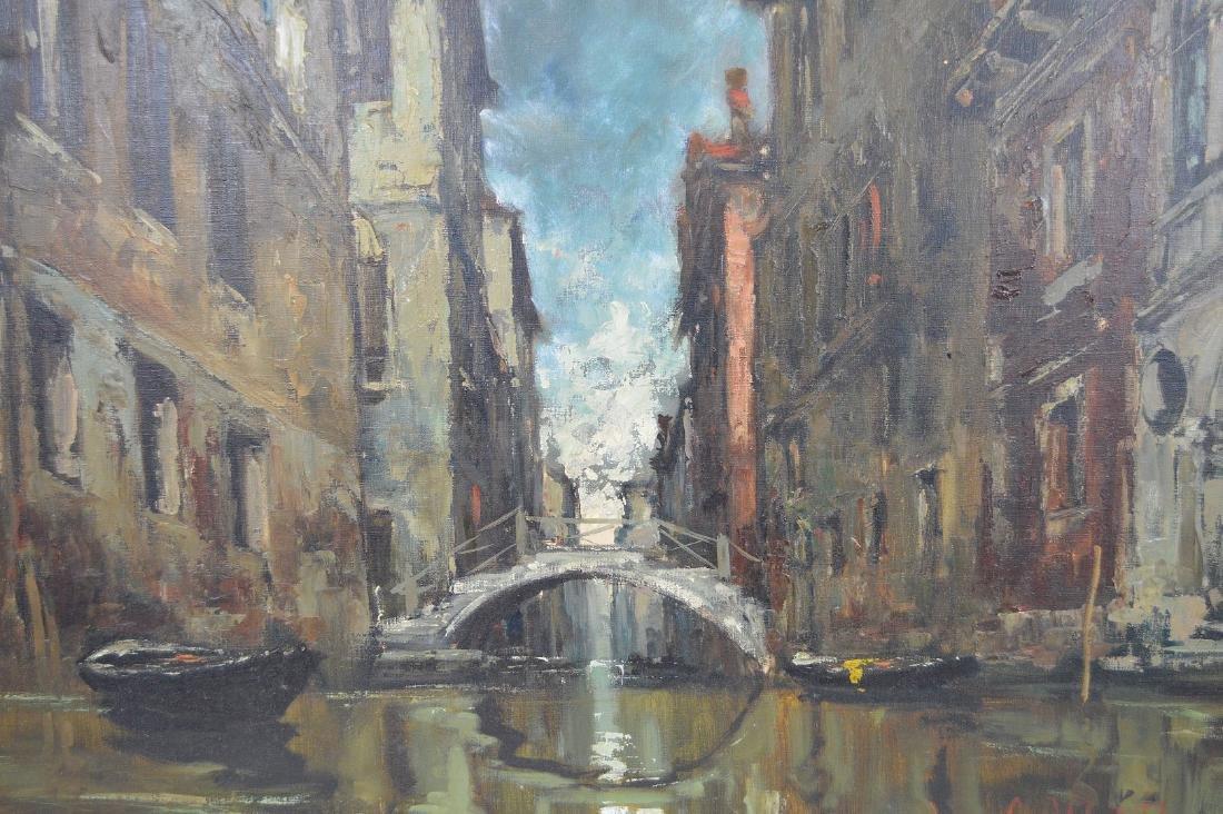 Giuseppe Abbati (Italian 1836-1868) Canal in Venice, - 5