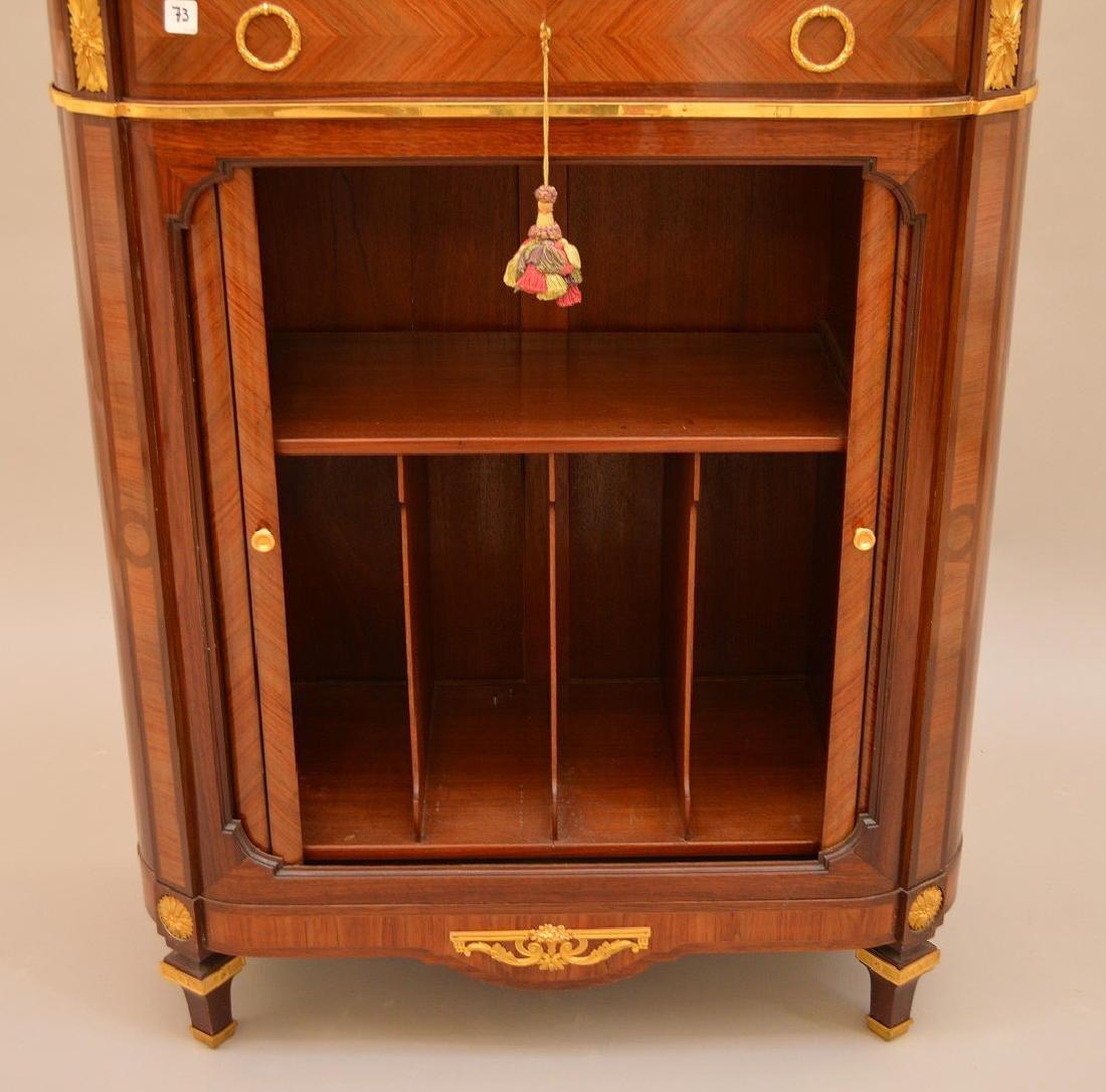 Antique Mercier Freres bronze mounted demi lune cabinet - 2
