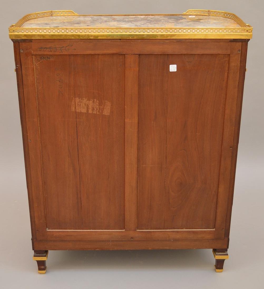 Antique Mercier Freres bronze mounted demi lune cabinet - 5