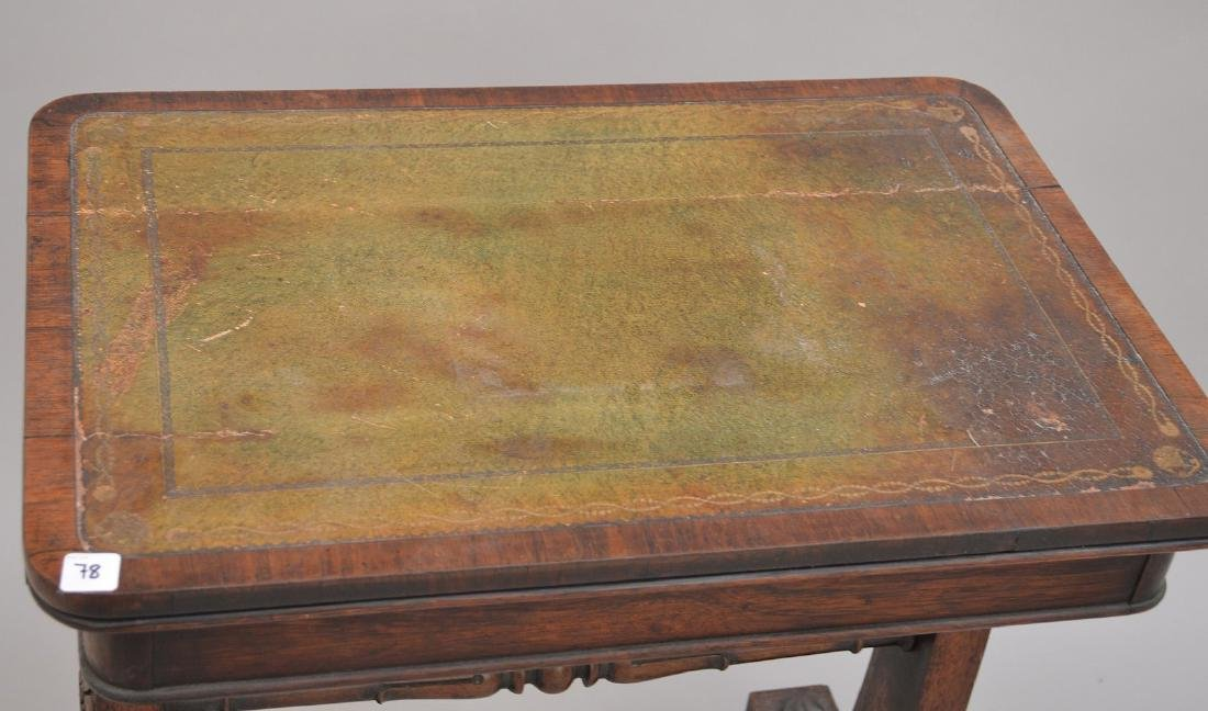 19th c. Continental writing table with as is leather - 2