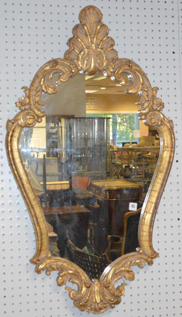 """Carved giltwood mirror, 41"""" x 23"""""""