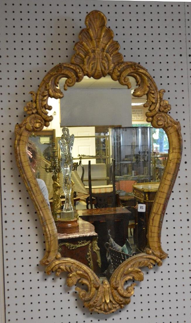 """Carved giltwood mirror, 41"""" x 23"""" - 2"""