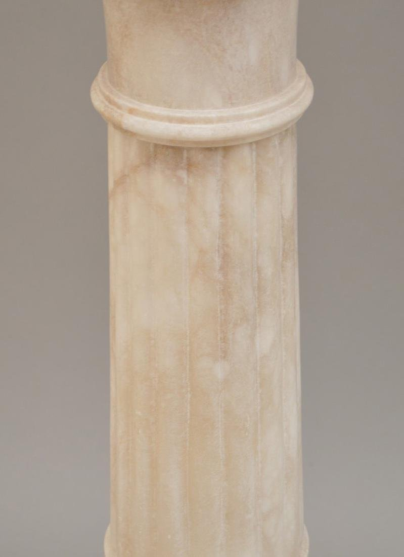 Pair White Alabaster Pedestals - 4