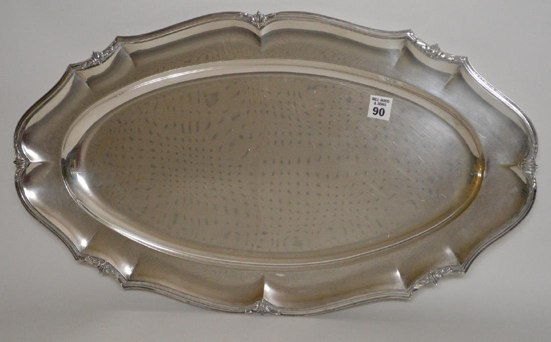 """Large sterling """"800"""" tray , 60 ozt, 24""""L x 13""""W"""