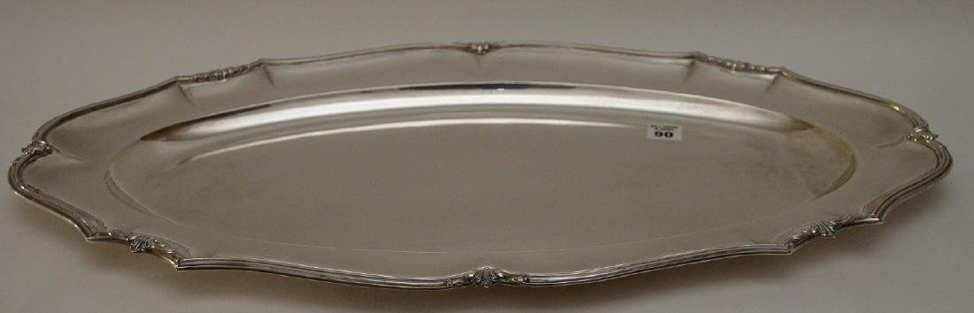 """Large sterling """"800"""" tray , 60 ozt, 24""""L x 13""""W - 3"""