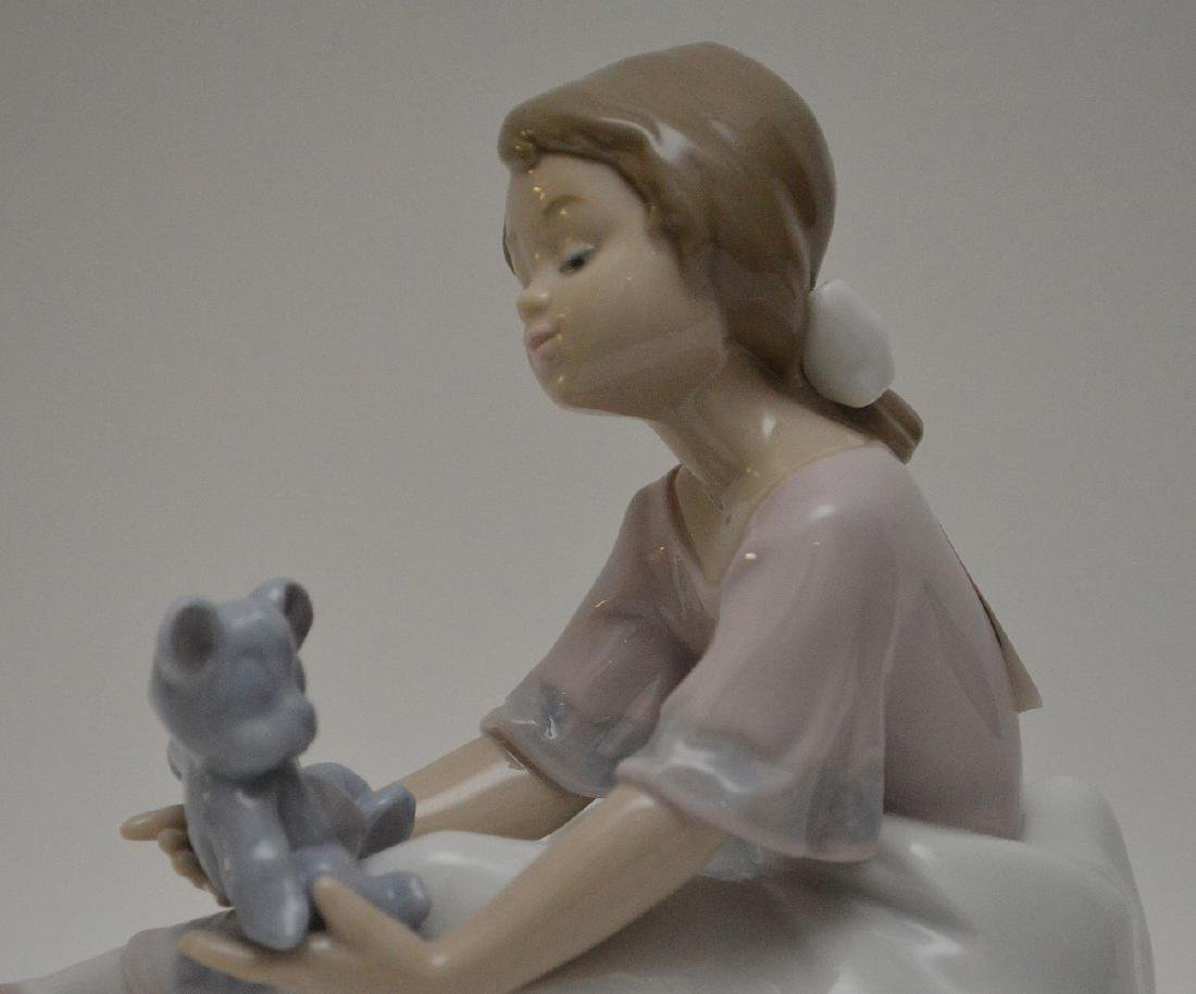 """Nao girl with clown (9 1/2""""h) AND Lladro girl """"Best - 10"""