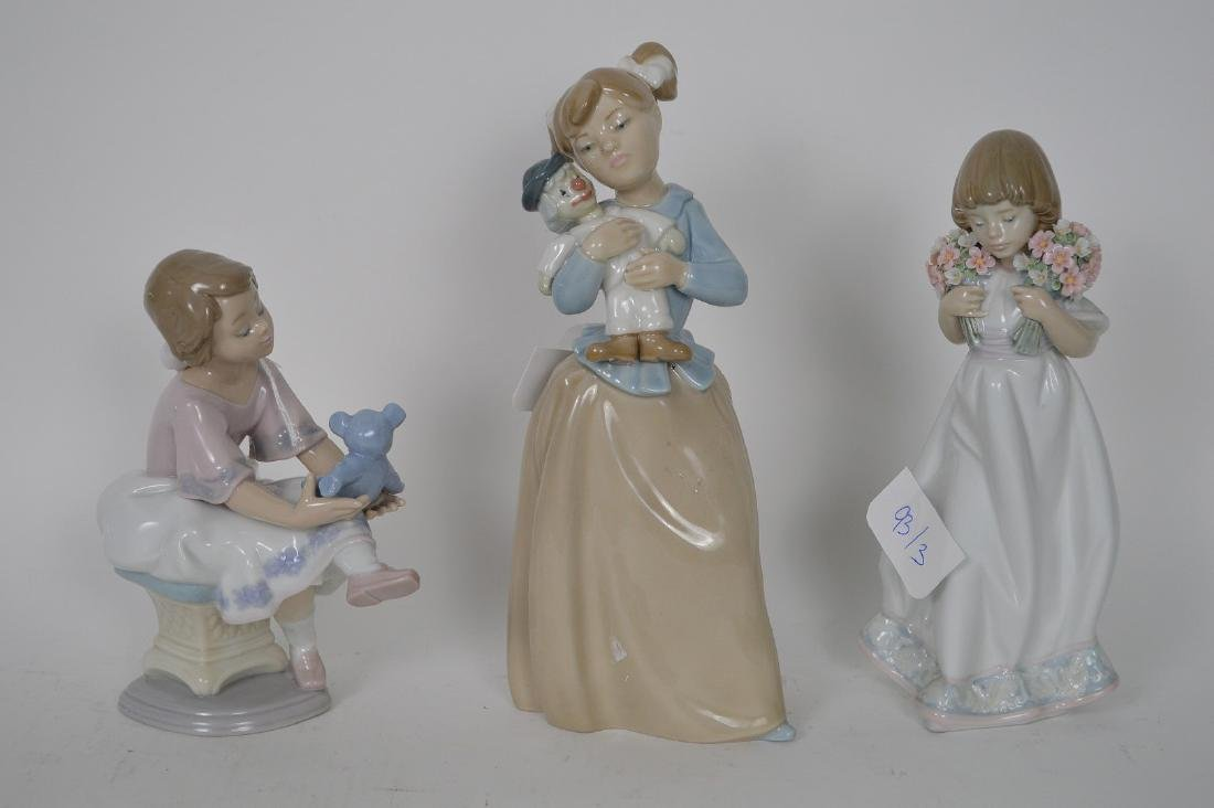 """Nao girl with clown (9 1/2""""h) AND Lladro girl """"Best"""