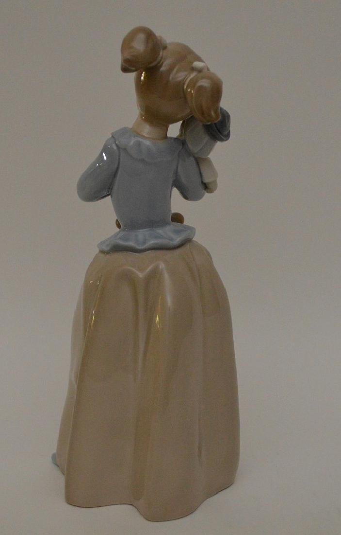 """Nao girl with clown (9 1/2""""h) AND Lladro girl """"Best - 3"""