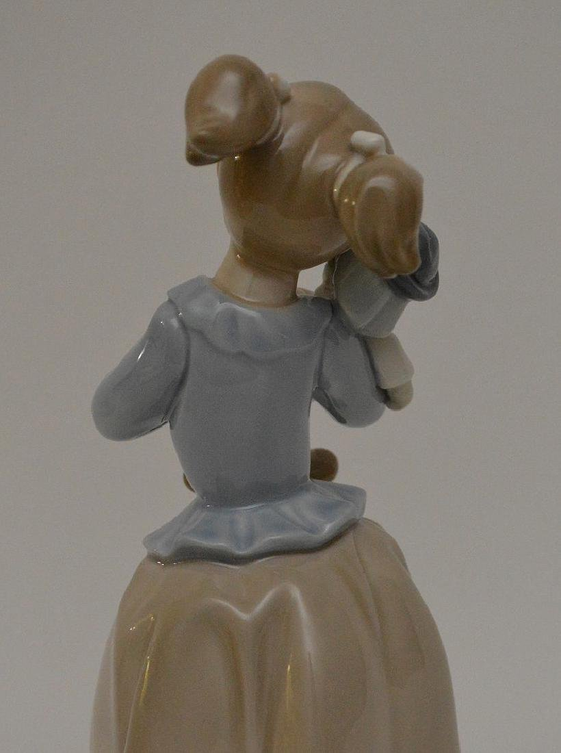 """Nao girl with clown (9 1/2""""h) AND Lladro girl """"Best - 4"""