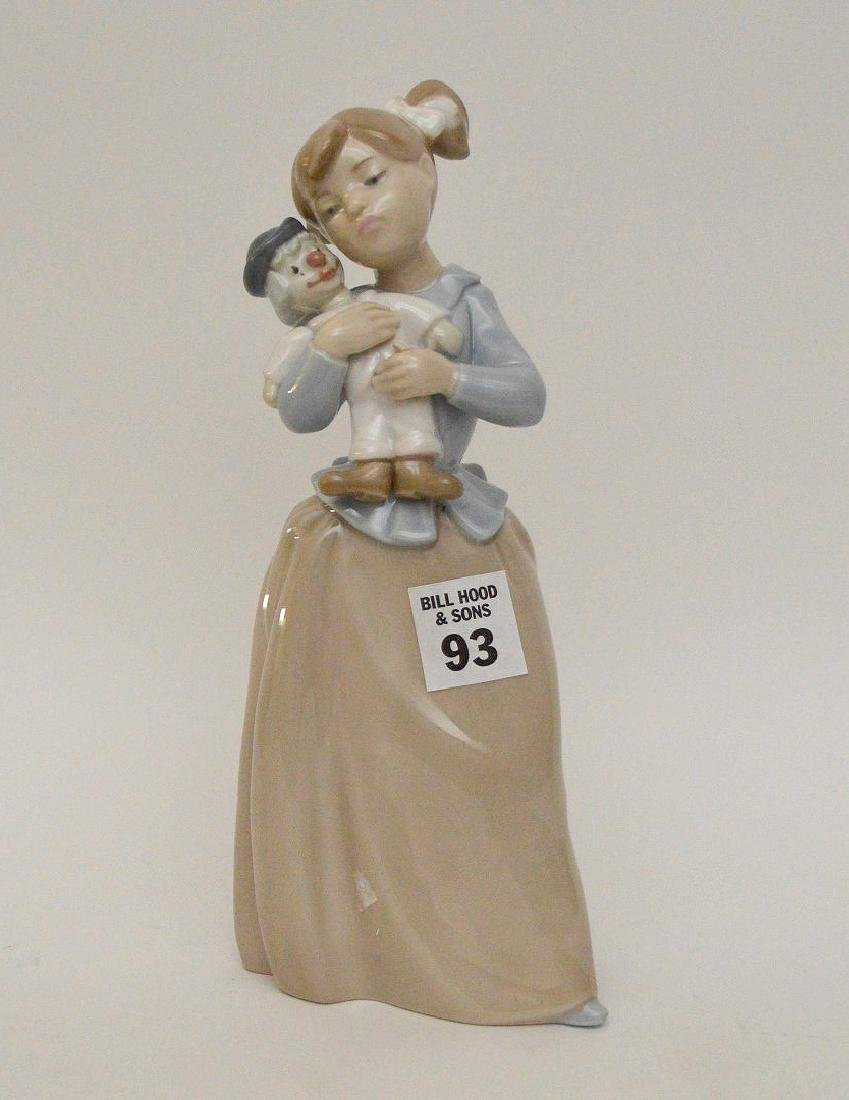 """Nao girl with clown (9 1/2""""h) AND Lladro girl """"Best - 6"""