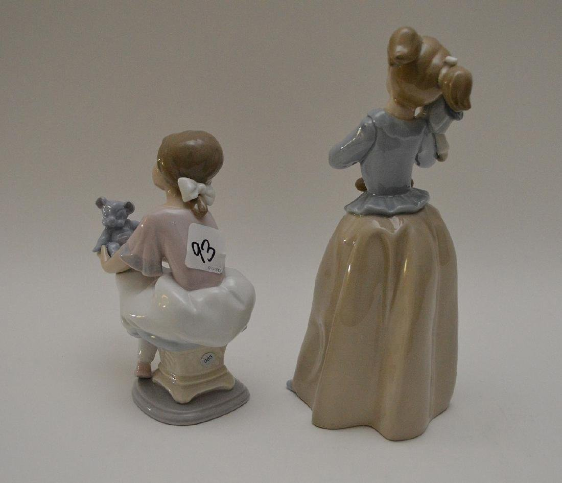 """Nao girl with clown (9 1/2""""h) AND Lladro girl """"Best - 8"""