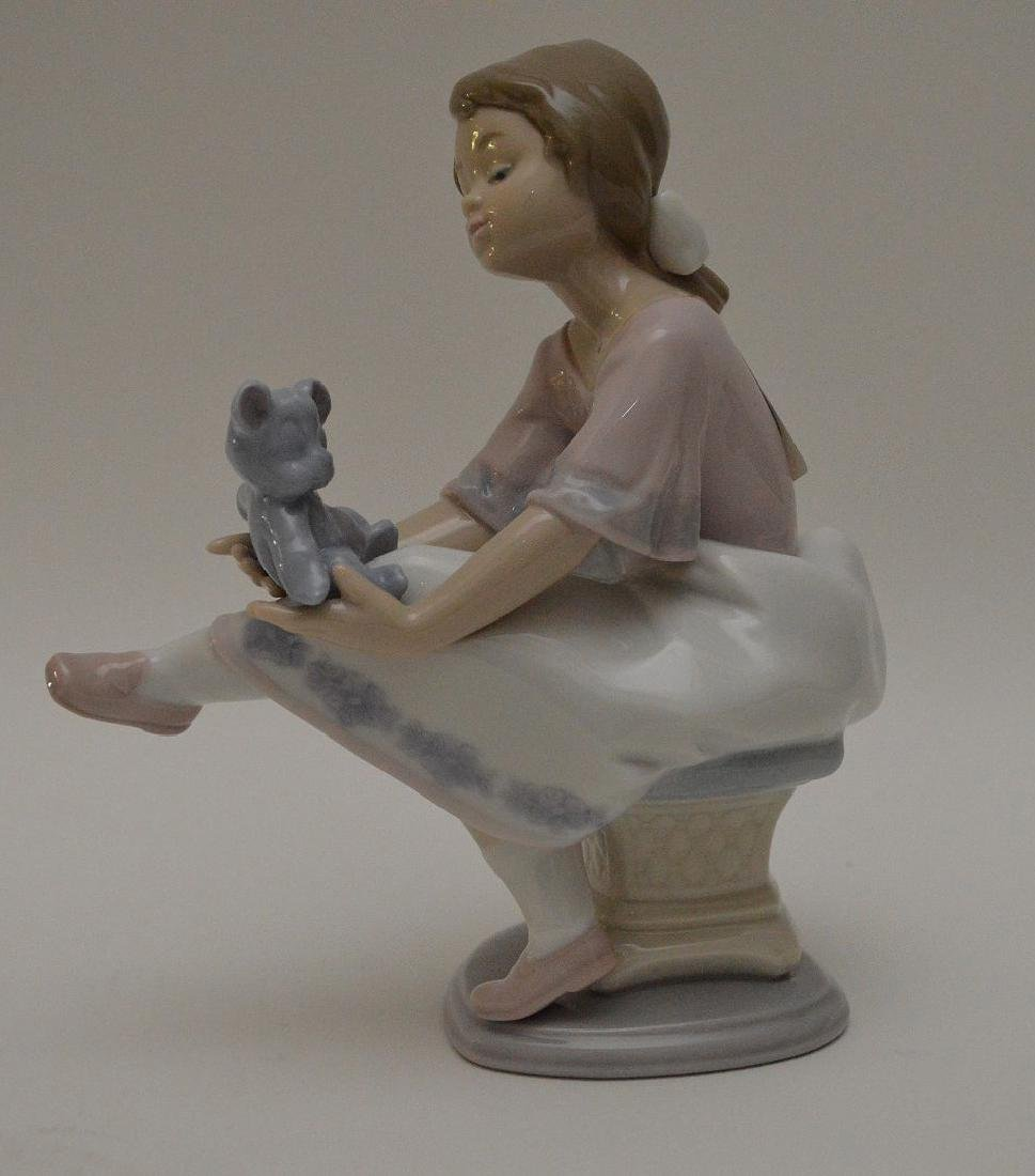 """Nao girl with clown (9 1/2""""h) AND Lladro girl """"Best - 9"""