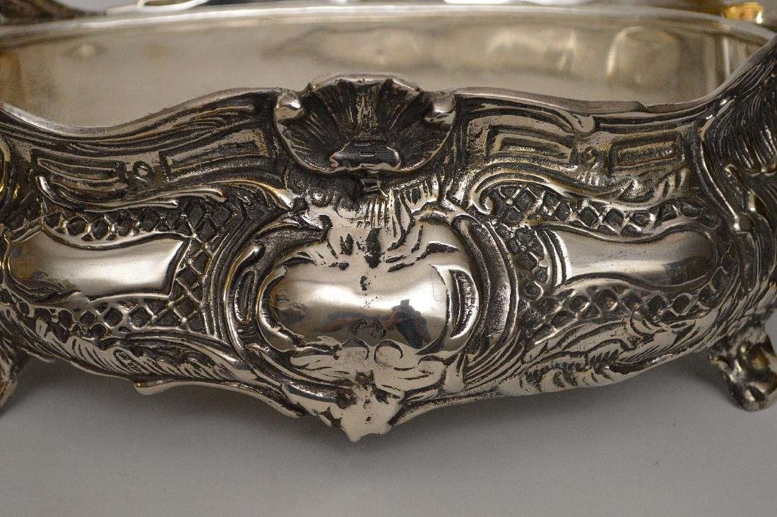 "Silverplate centerpiece, 5""h x 16""w - 2"