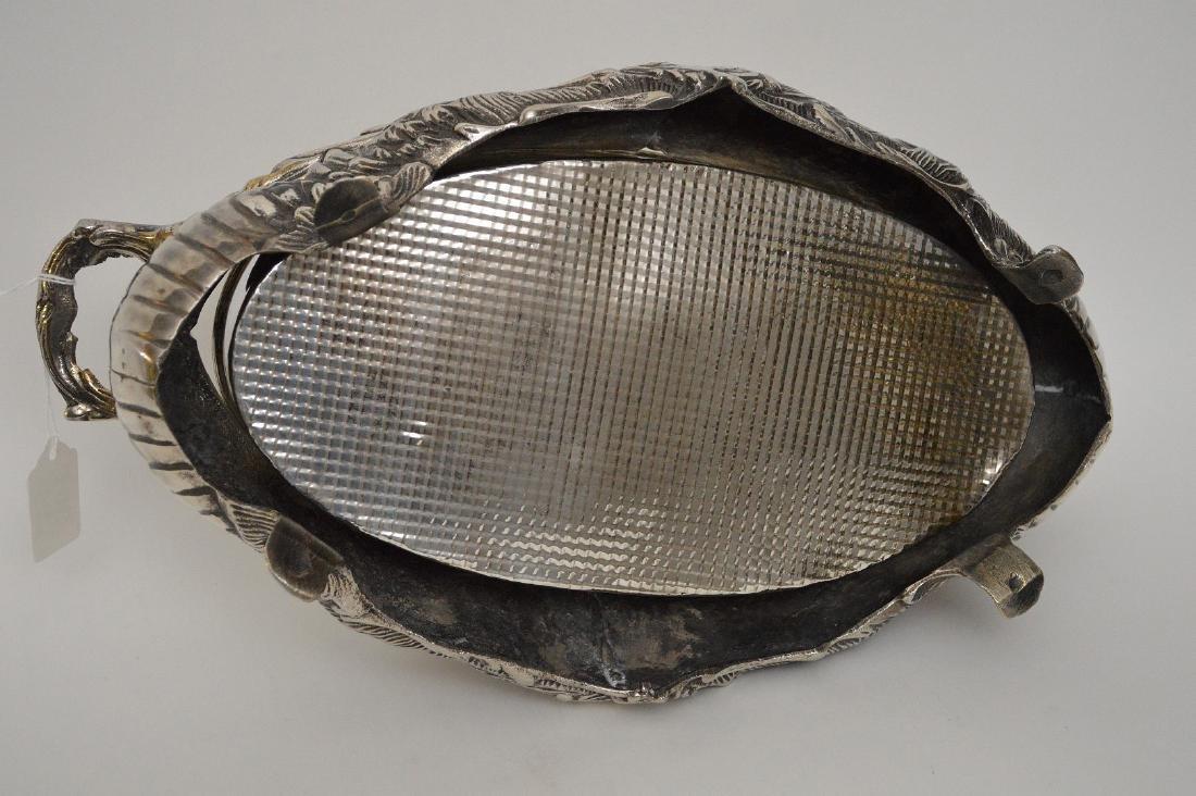 "Silverplate centerpiece, 5""h x 16""w - 5"
