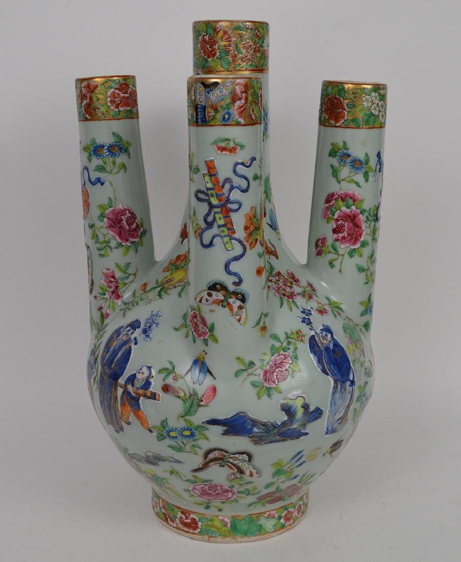Early Chinese celadon porcelain tulip vase with - 5