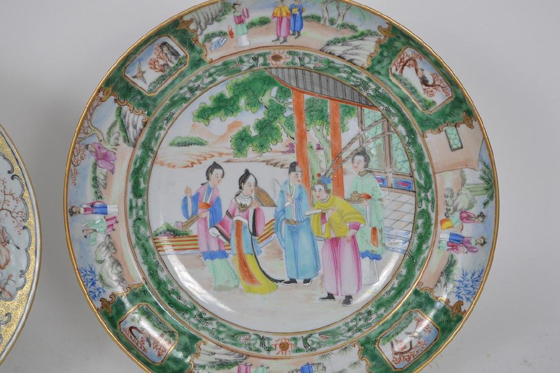2 Chinese export porcelain plates, one plate Famille - 2