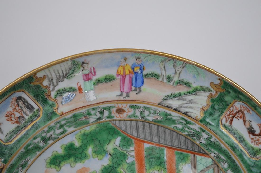 2 Chinese export porcelain plates, one plate Famille - 4