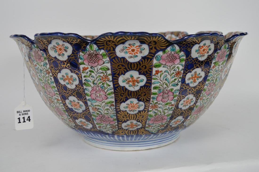 Large Antique Chinese porcelain bowl with floral