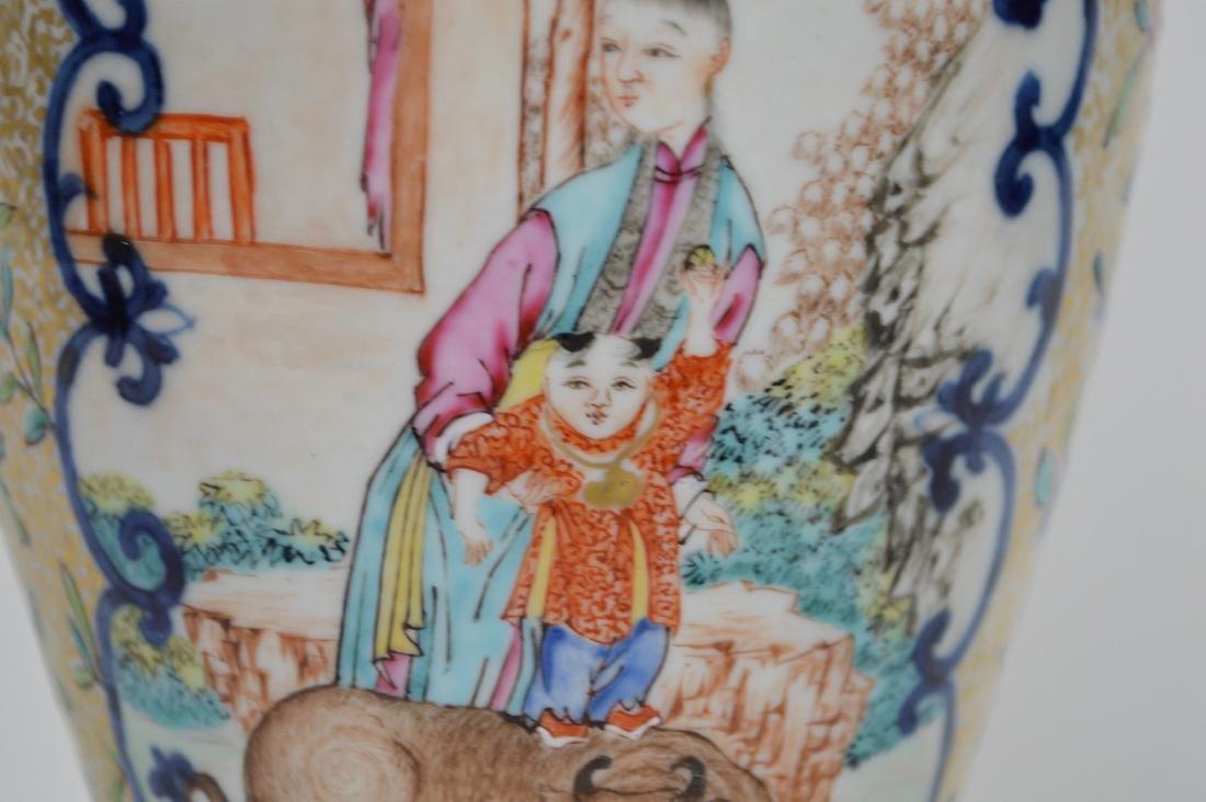 "Chinese export porcelain Famille Rose urn, 12 3/4""h - 10"
