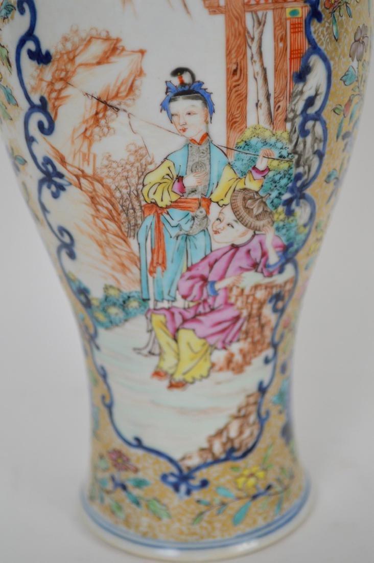 "Chinese export porcelain Famille Rose urn, 12 3/4""h - 3"