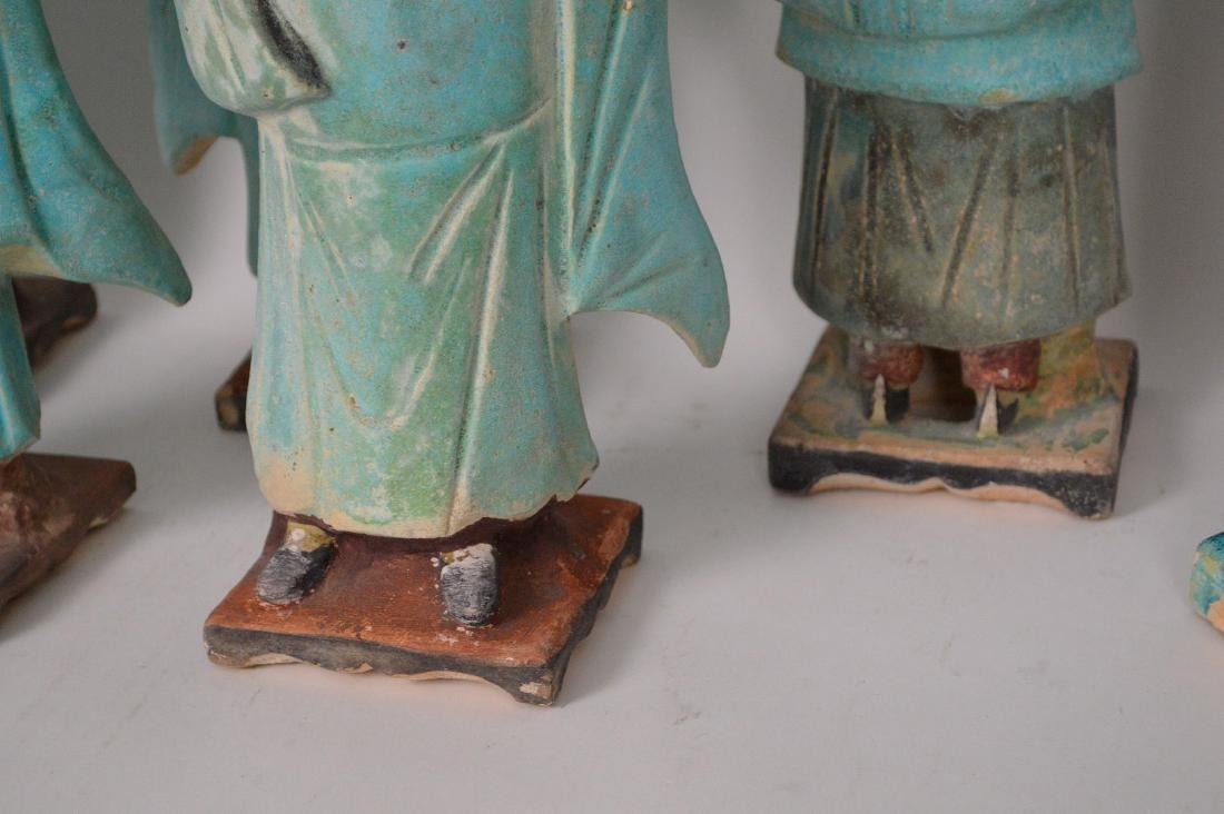 7 Piece Early Chinese Pottery Procession. - 7