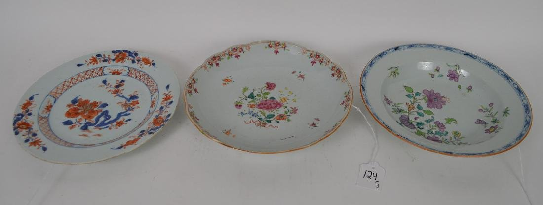 3 Pieces Chinese Export Porcelain.  2 Chinese Export