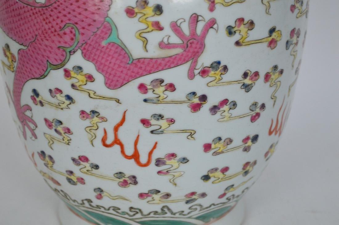Chinese Porcelain Qing Famille Rose Porcelain Vase. - 3
