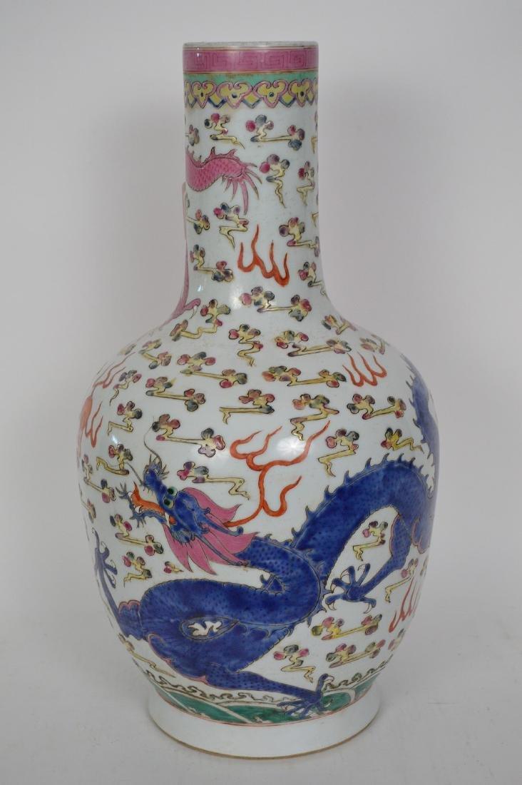Chinese Porcelain Qing Famille Rose Porcelain Vase. - 5