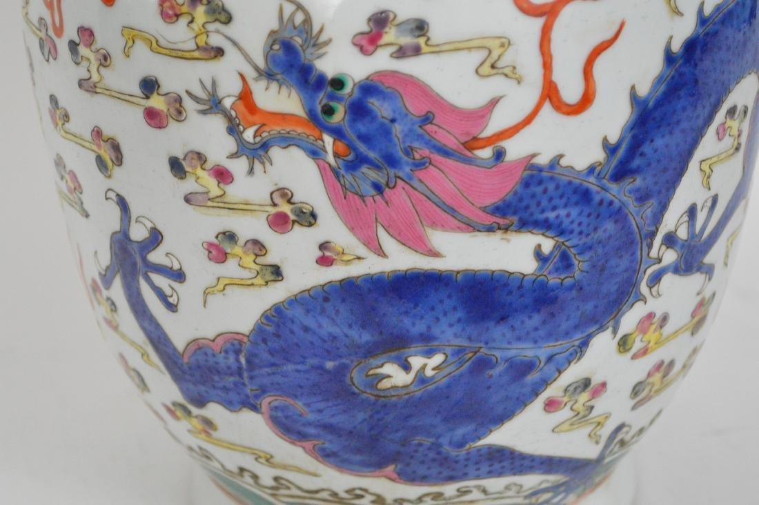 Chinese Porcelain Qing Famille Rose Porcelain Vase. - 7