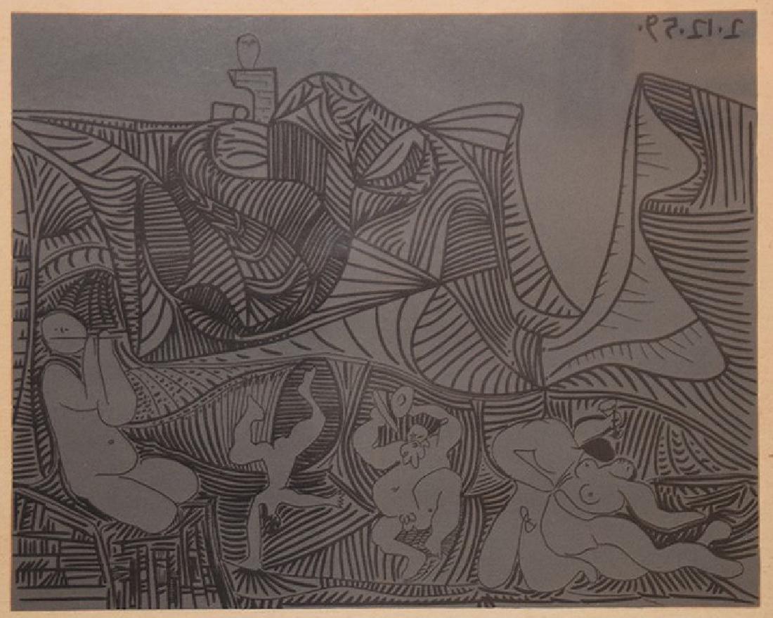 """Pablo Picasso (1881-1973). """"Bacchanale au hibou"""""""
