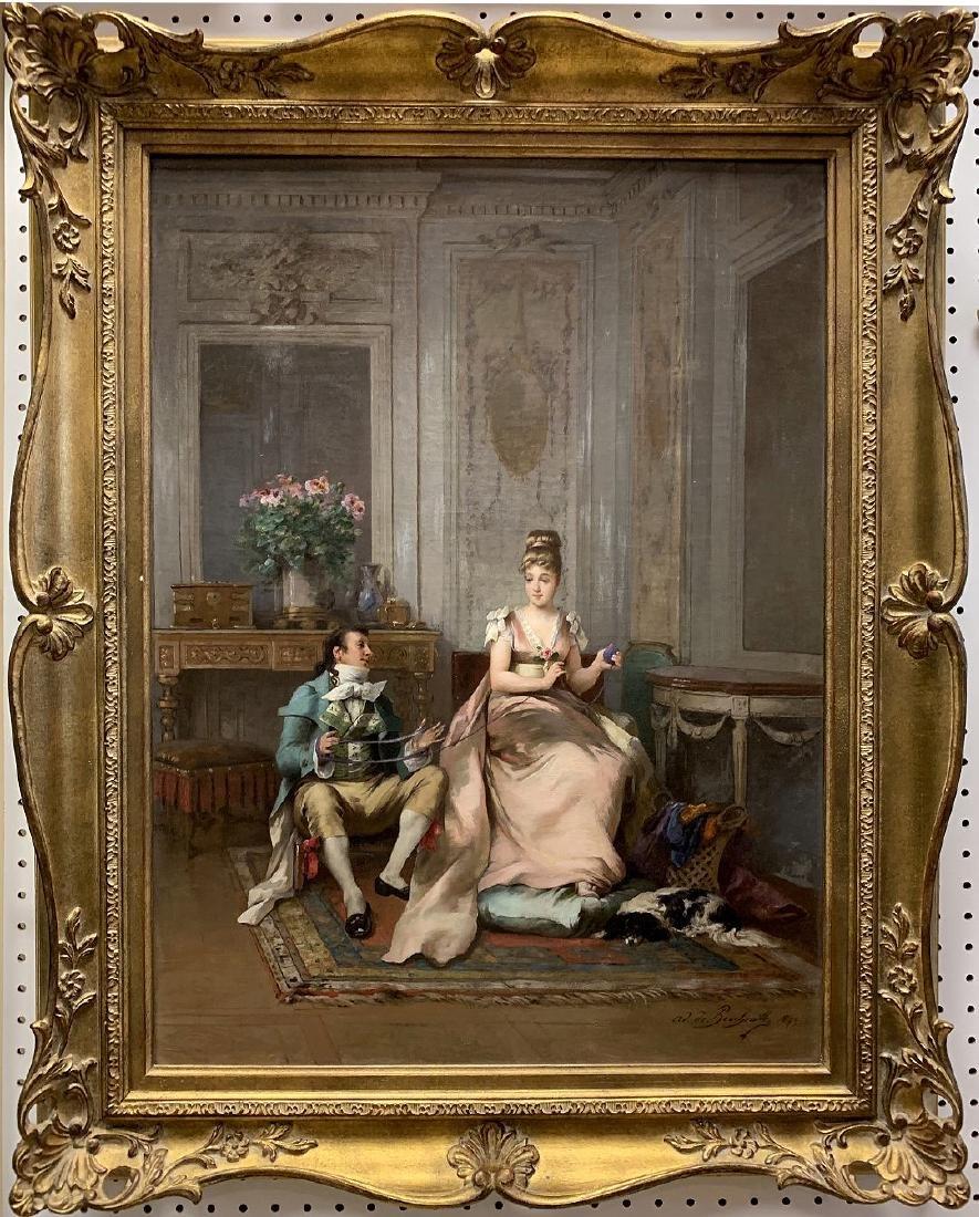 Adrien Boucherville  (French 1829 - 1912) oil on