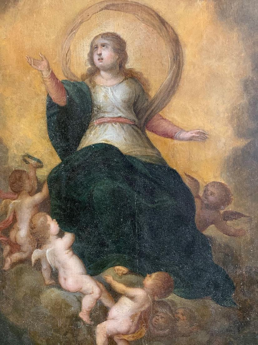 "The ""Assumption of the Virgin"" ,  17th century Spanish - 3"