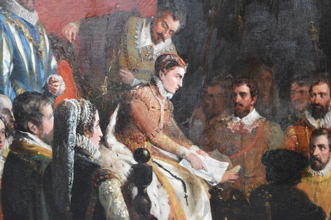 19th Century oil on canvas, signed Bromley ? Queen - 5