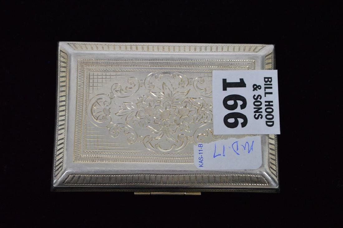 Fine antique jeweled Italian silver Minaudiere/case - 4