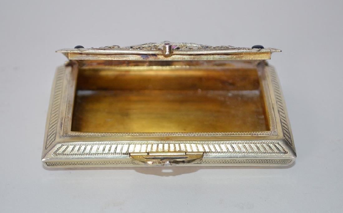 Fine antique jeweled Italian silver Minaudiere/case - 7