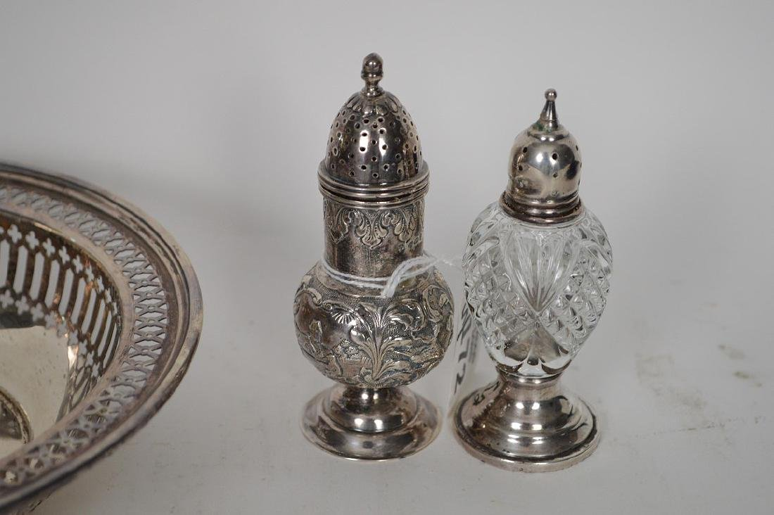 5 pieces of sterling, 4 salt & pepper shakers and 1 - 2