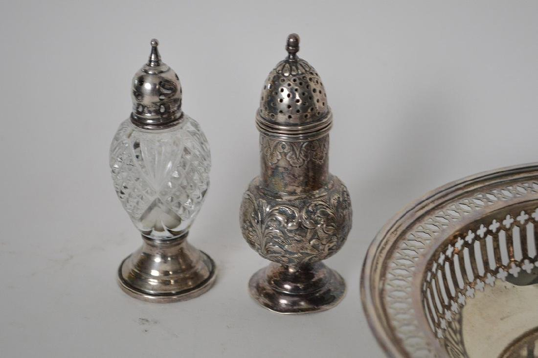 5 pieces of sterling, 4 salt & pepper shakers and 1 - 3