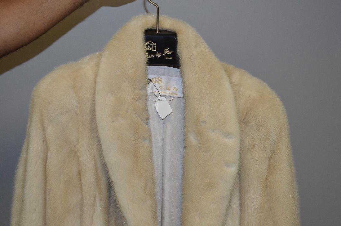"""Blonde mink three-quarter jacket, 37"""" collar to bottom, - 2"""