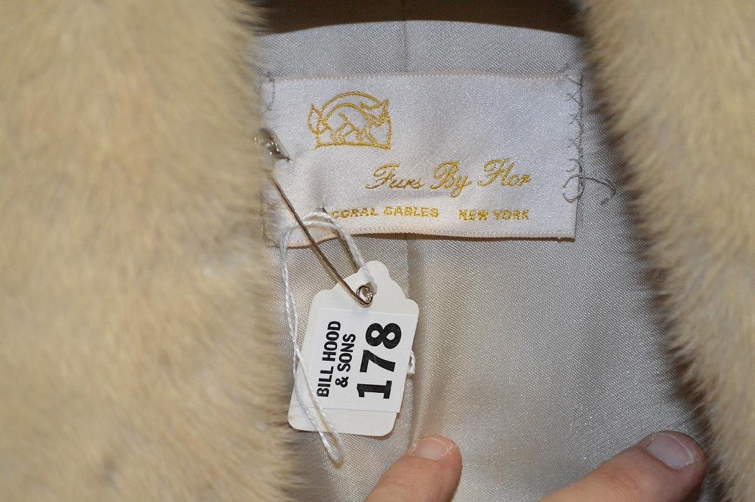 """Blonde mink three-quarter jacket, 37"""" collar to bottom, - 3"""