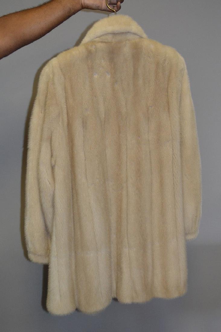 """Blonde mink three-quarter jacket, 37"""" collar to bottom, - 4"""