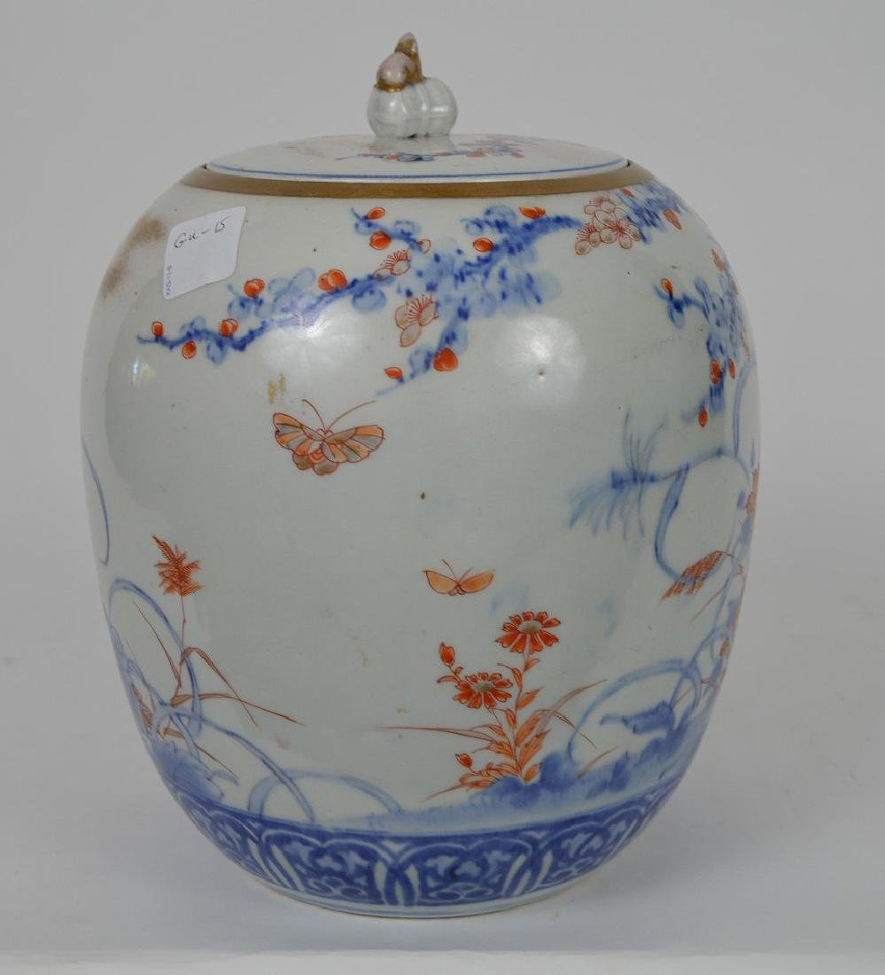 Chinese ginger jar with flowers and birds in branches, - 4