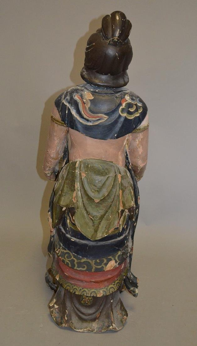Chinese Carved Wood 19th Century . Polychromed and - 6
